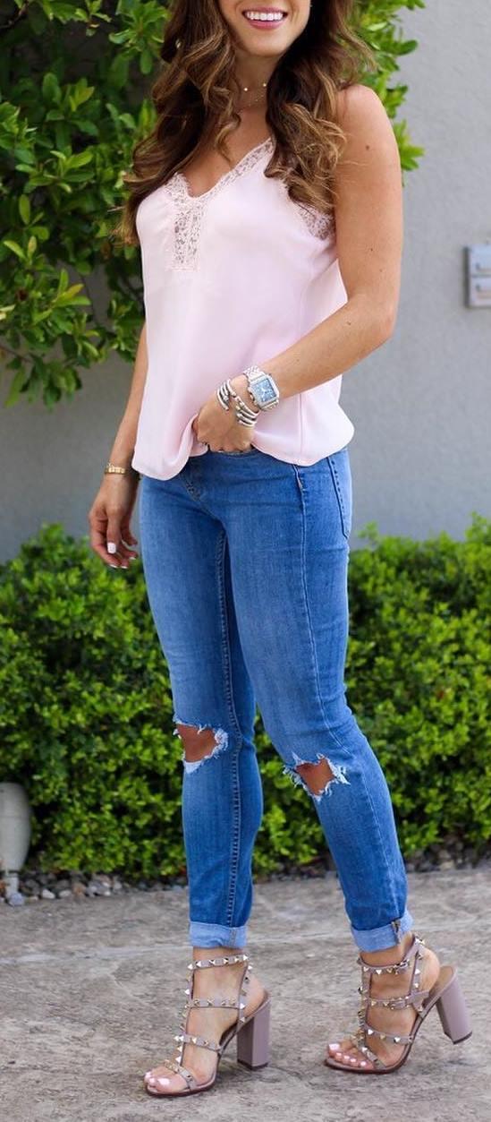 ootd: top + skinnies + heels