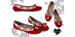 Model sepatu flat Red Rapunzel