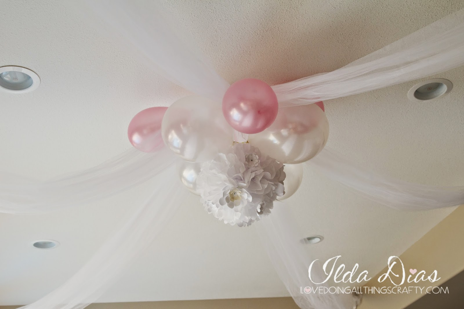 First Communion Day + DIY Decor, Ceiling Decotation