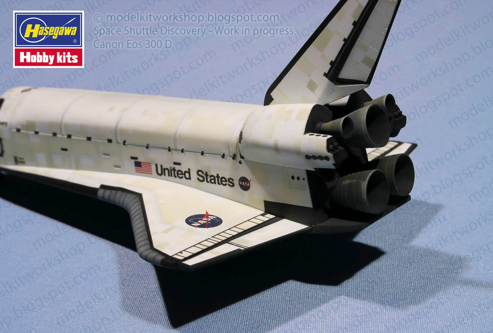 MODELKIT WORKSHOP: Space shuttle Discovery : Hasegawa 1/200