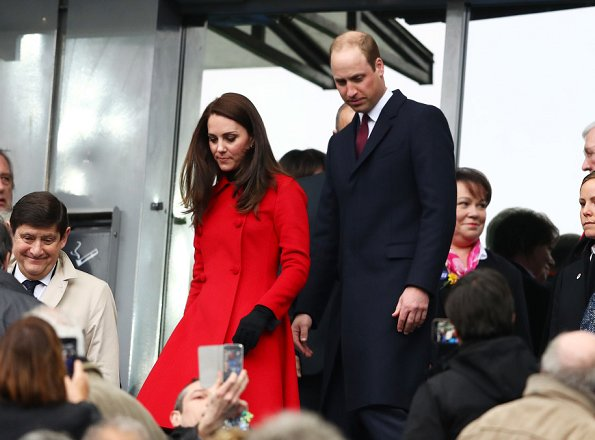 Kate Middleton wore her red Carolina Herrera coat