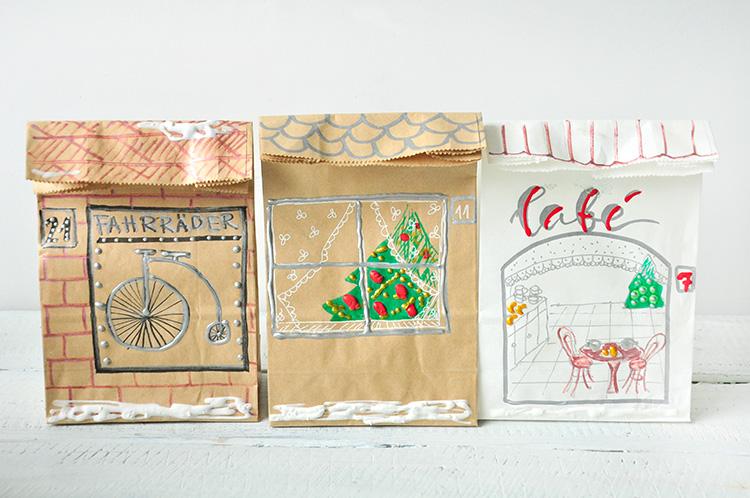 miss red fox: Häuser Adventskalender