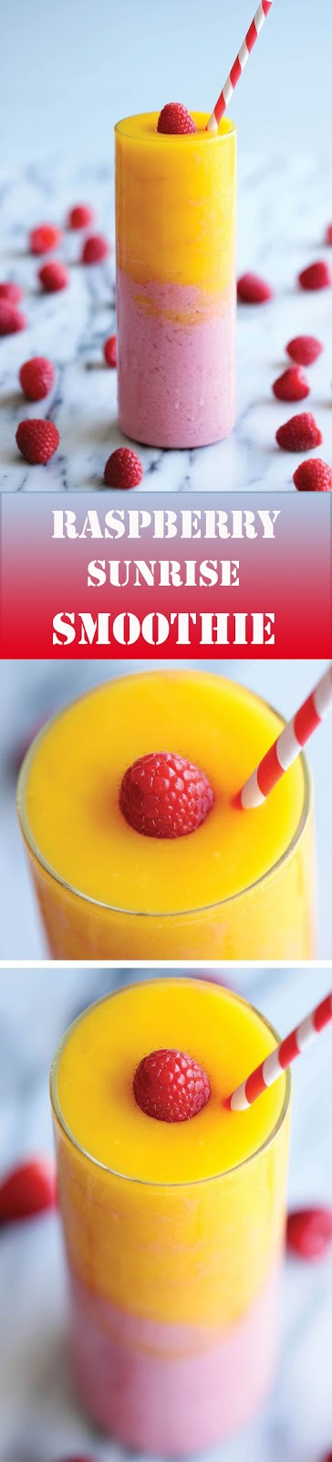 Raspberry Sunrise #Smoothie #drinks #recipes