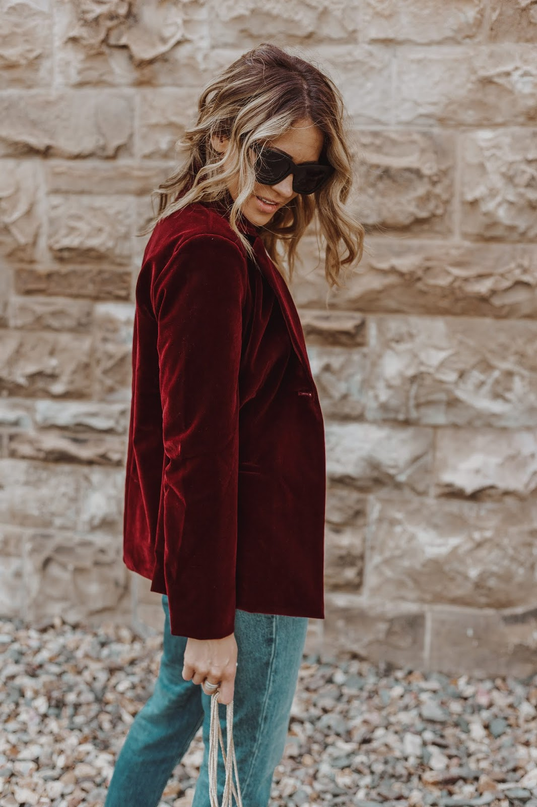 Velvet Blazer For Fall
