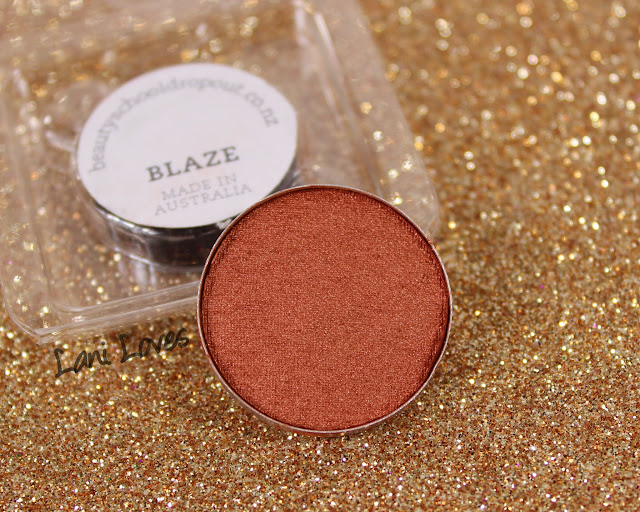 Beauty School Dropout Eyeshadow - Blaze Swatches & Review