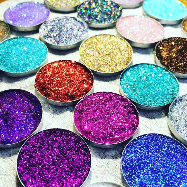 homemade eyeshadow glitters