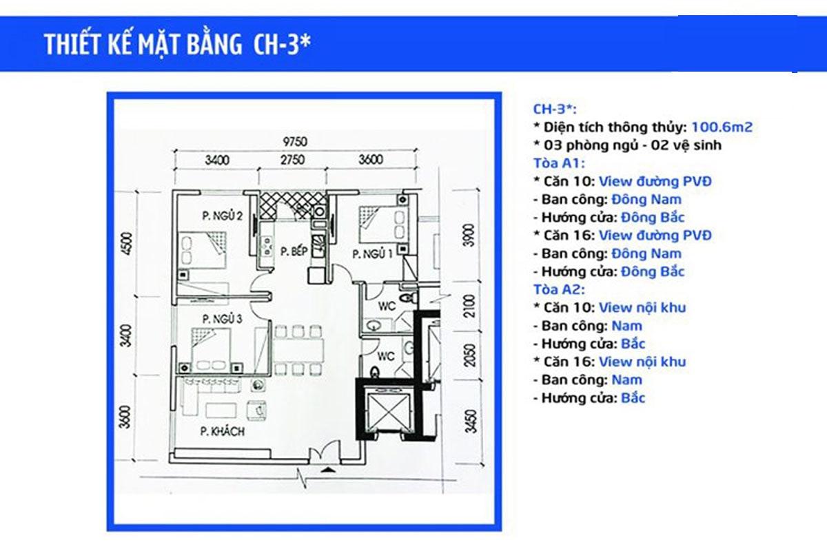 Mặt bằng căn hộ IA20 Ciputra