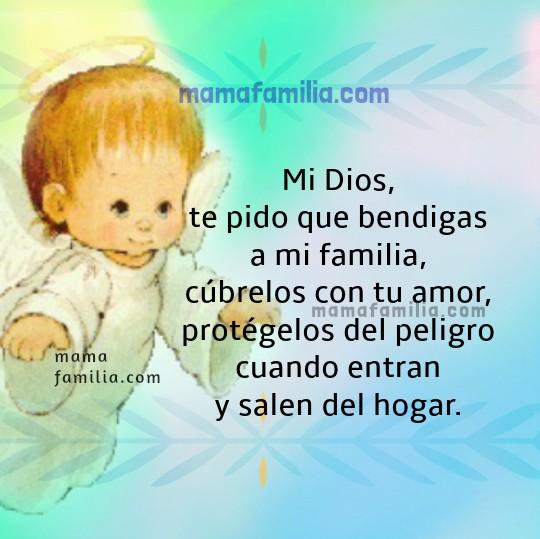 Bonita Oración de Bendición y Protección para Mi Familia. Frases con oraciones e imágenes cristianas para mis hijos, esposo, familia por facebook, oración por Mery Bracho