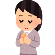 祈る人のイラスト(女性)