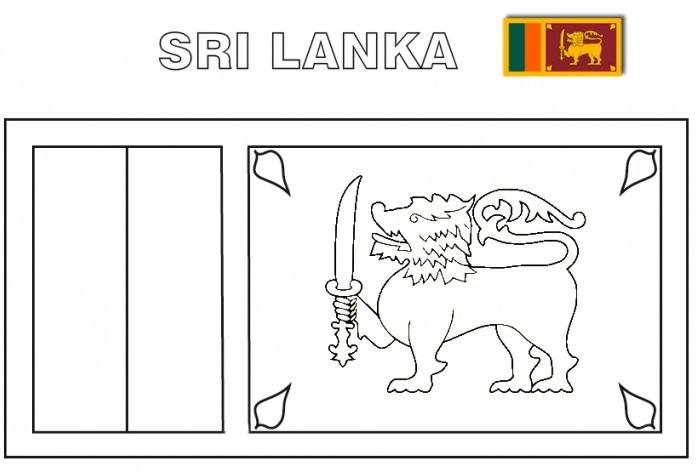 Geography Blog Sri Lanka Flag Colouring Page