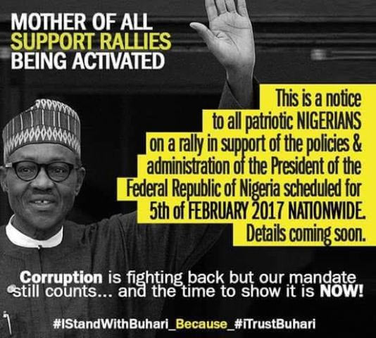 Ghen ghen! Buhari supporters stage counter rally on Feb 5th