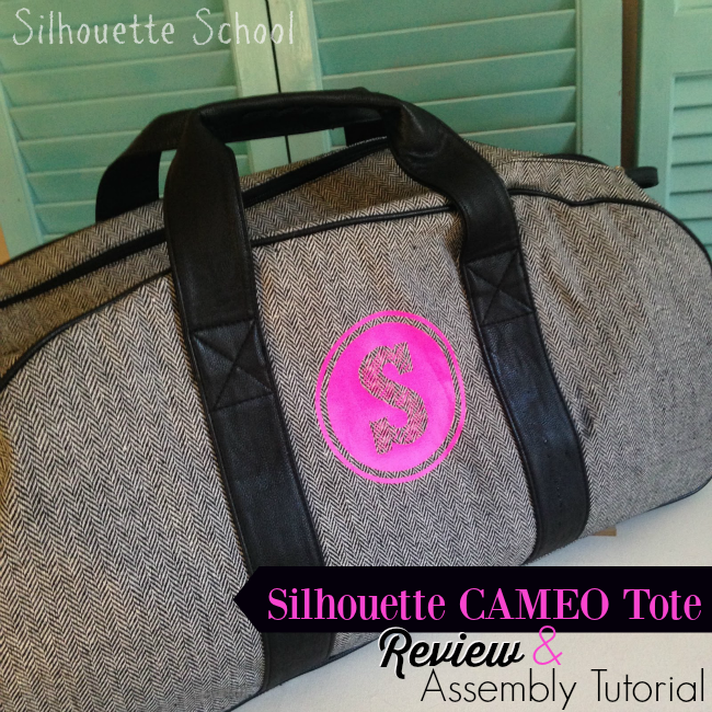 Silhouette Cameo, Silhouette Cameo tote, tote assembly