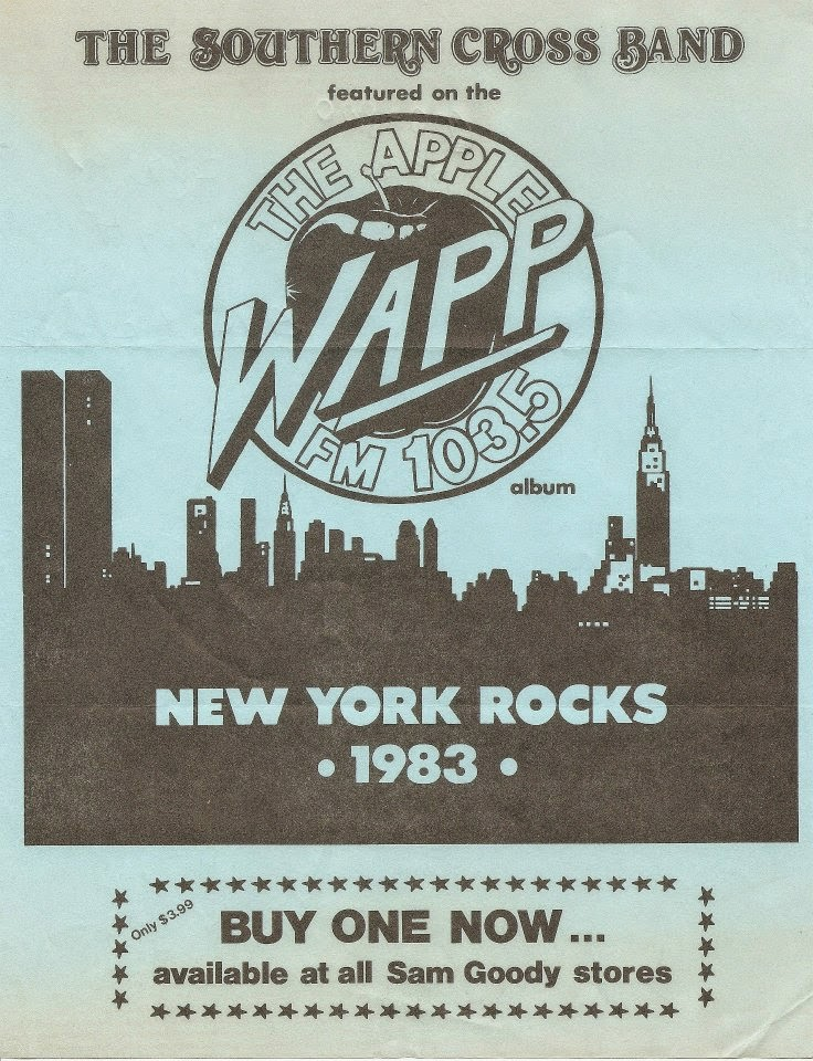 The Apple WAPP FM 103.5 radio station The Southern Cross Band flyer 1983