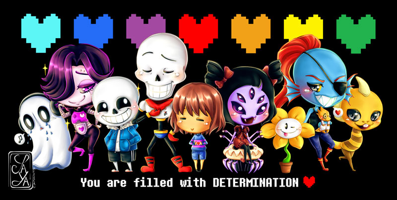 You are filled with DETERMINATION ♥ - Vous êtes rempli de DETERMINATION ♥