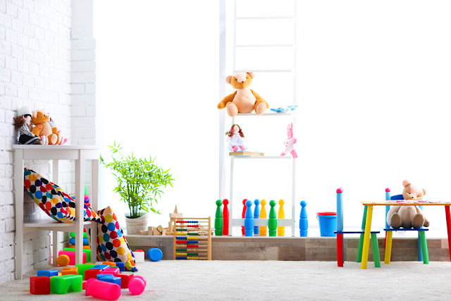 organised kids playroom