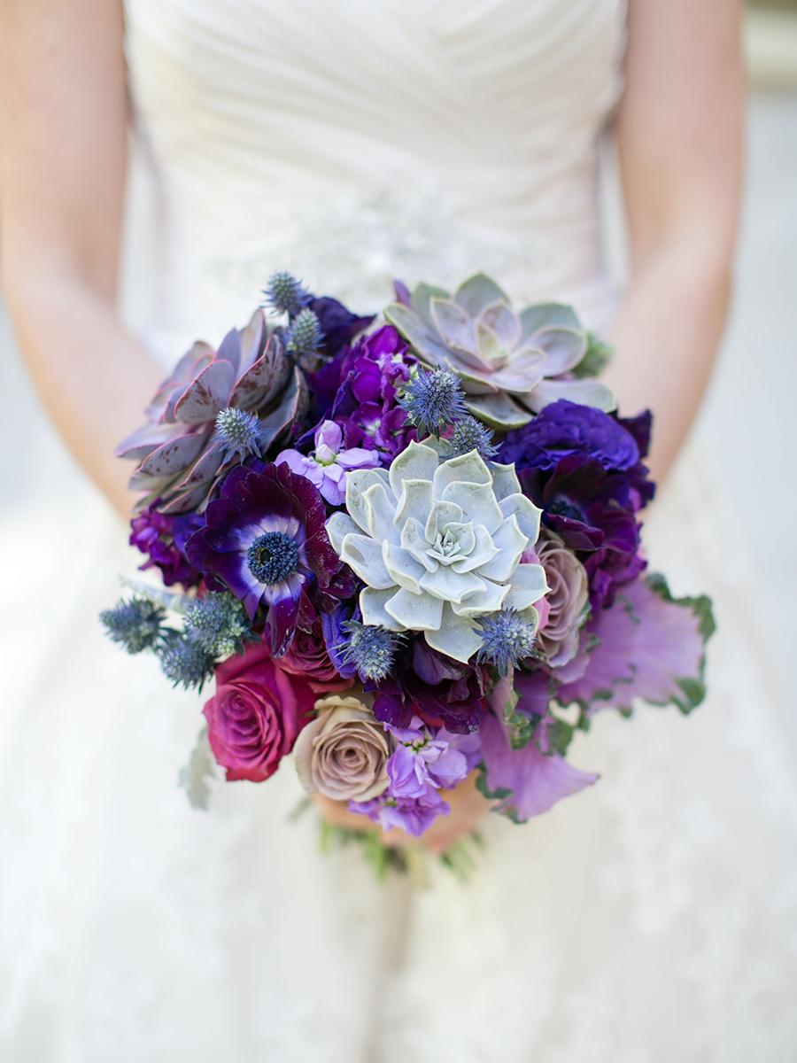 Ultra Violet Succulent Bouquet