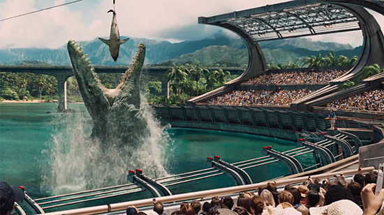 Mosassauro do filme Jurassic World