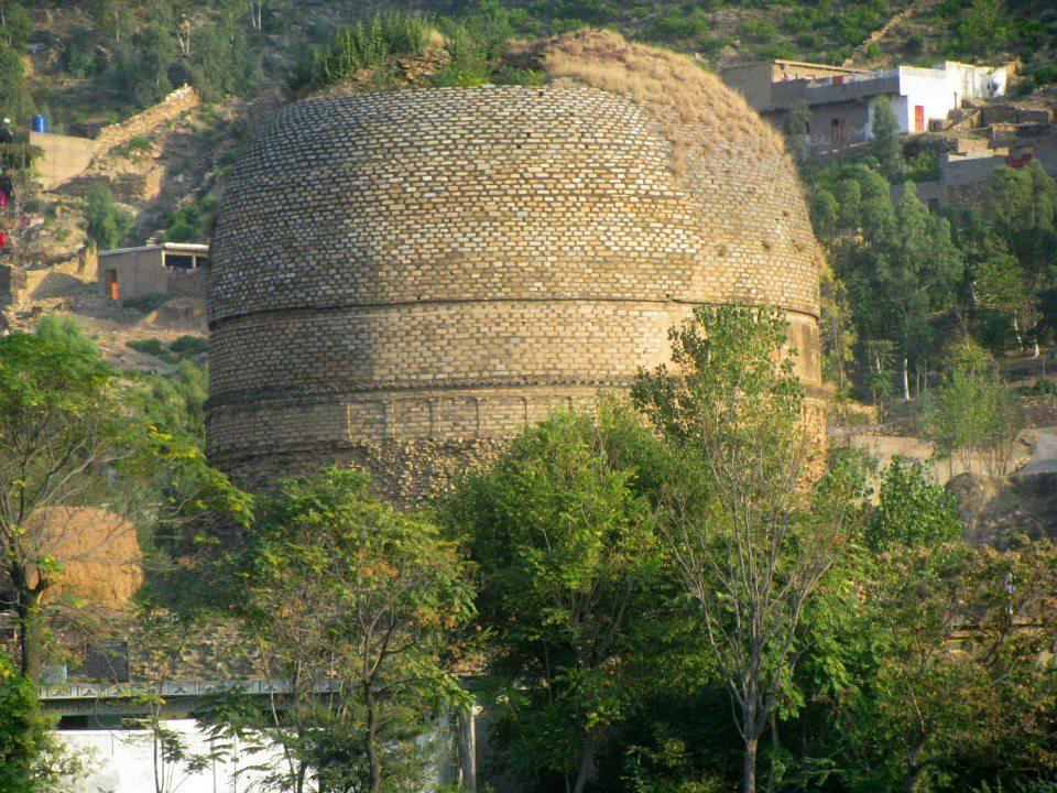 Shingardar Stupa near Bari Kot, Lower Swat Valley.