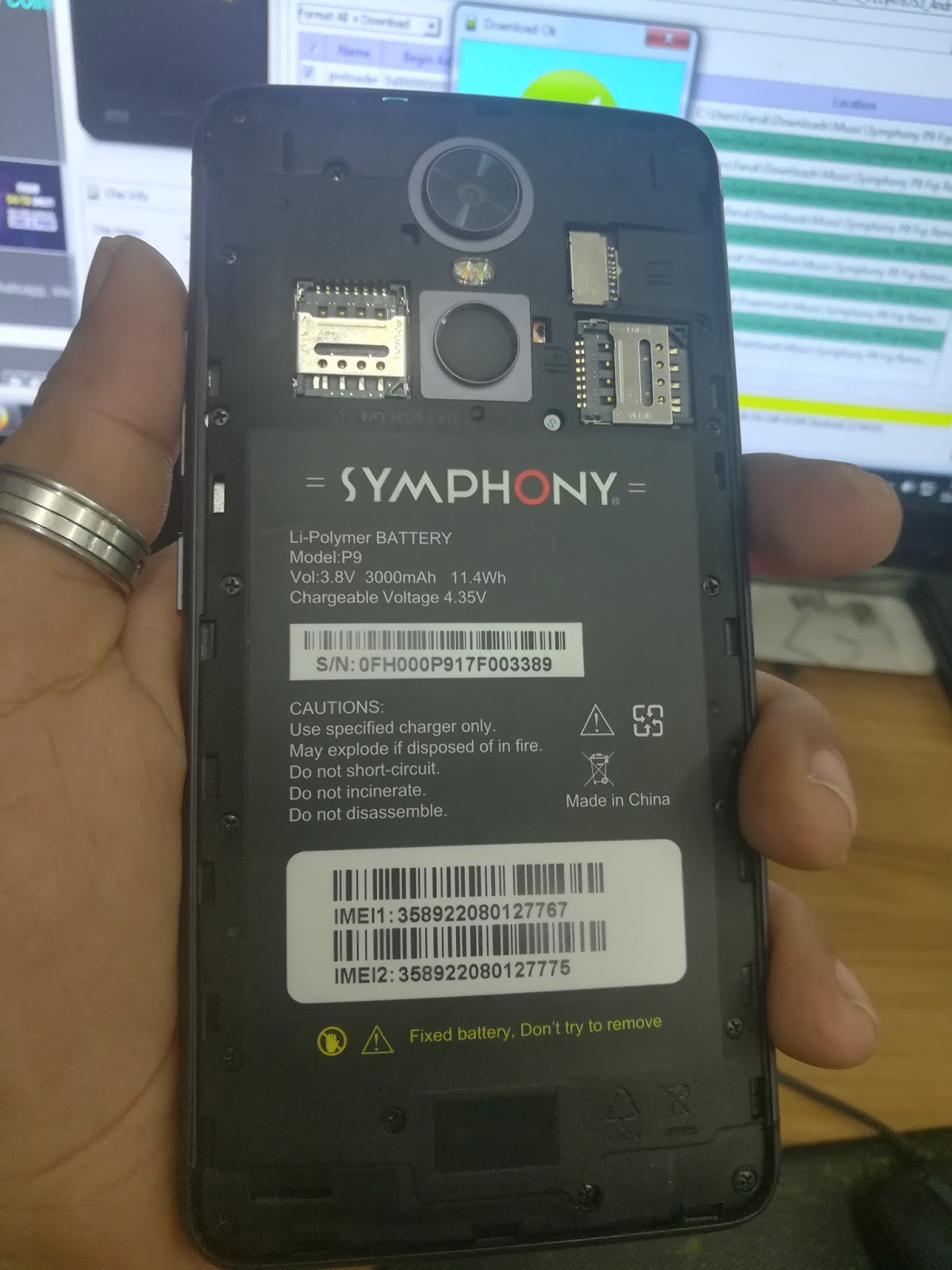 Symphony P9 Frp Removed flash file 100000% Tested by mhunlocker com