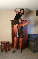 Amazing muscular girls lift and carry