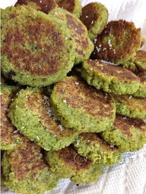Falafel, sprinkled with salt