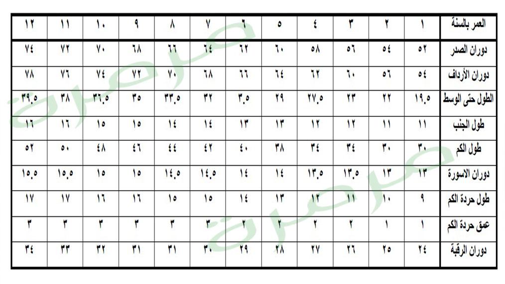 9490e339d جدول مقاسات الأطفال الخاصة بالخياطة وخطوات رسم الباترون الأساسي مع مرمرة