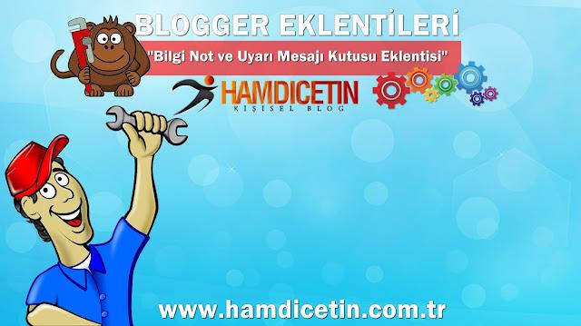 Blogger Bilgi Kutusu Eklentisi