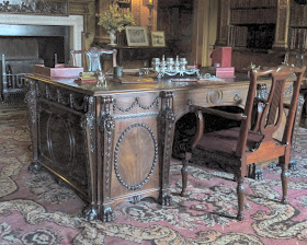 Chippendale's Palladian-style desk in the Library