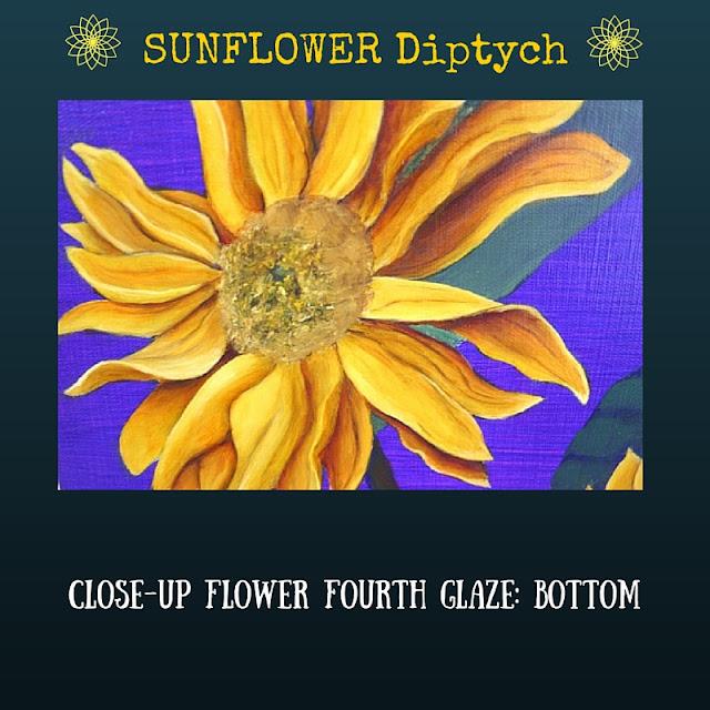 CLOSE UP Fourth color glaze BOTTOM Sunflower