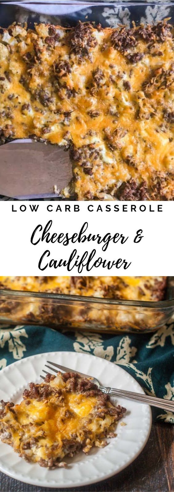 Low Carb Cheeseburger & Cauliflower Cauliflower #dinner #maincourse #lowcarb #cheeseburger #cauliflower