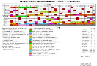 Download Kalender Pendidikan/Akademik Untuk Tahun Ajaran 2017/2018 lengkap