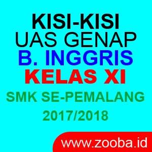 Kisi-Kisi UAS Bahasa Inggris SMK