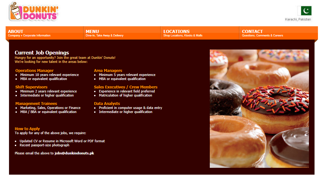 Dunkin Donuts Current Job Openings Management Trainees Operation