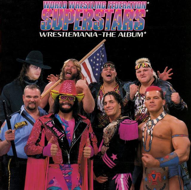 WWF Superstars - Wrestlemania - The Album (1993) Album cover