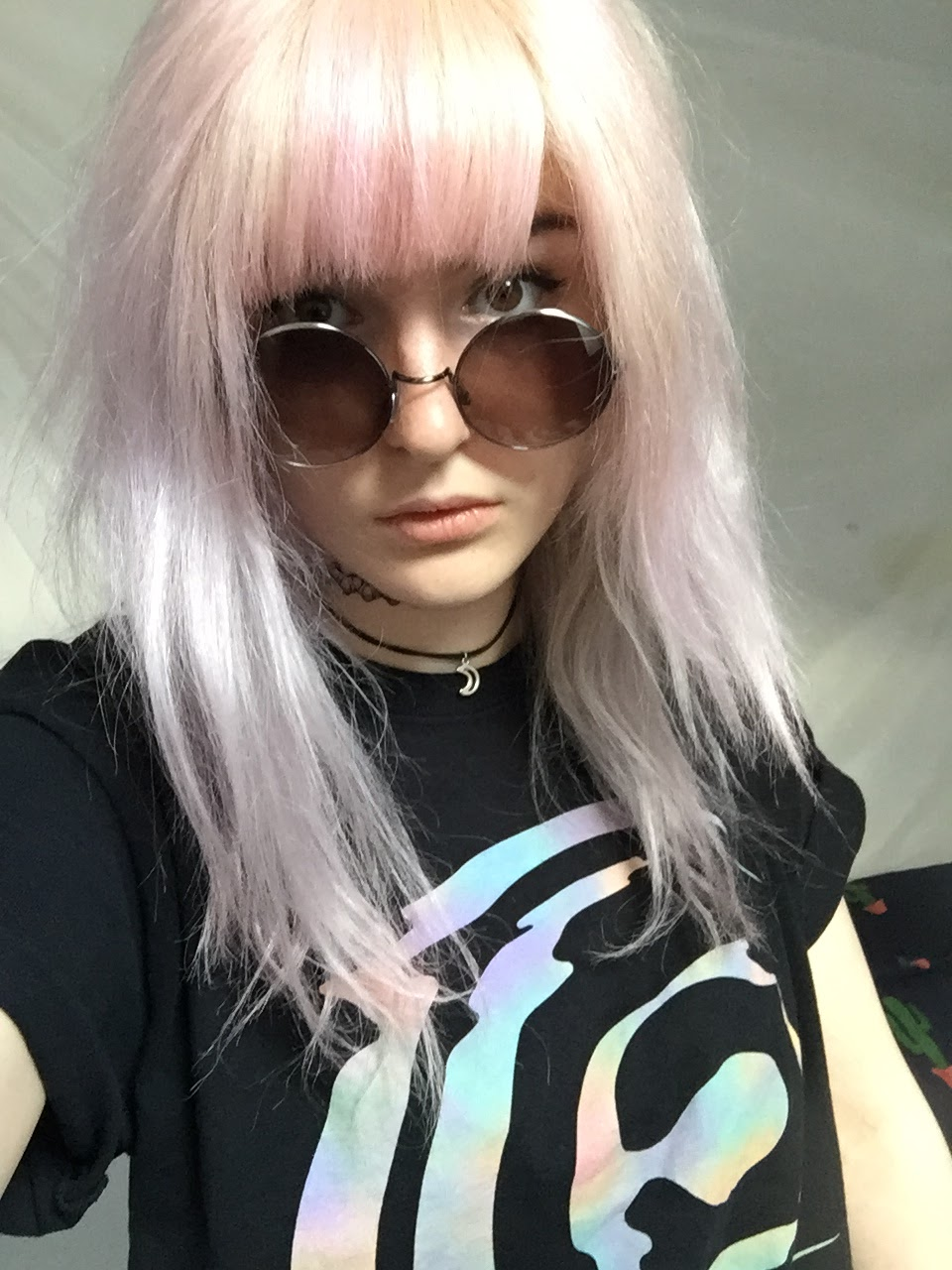Crazy color lavender pink roots
