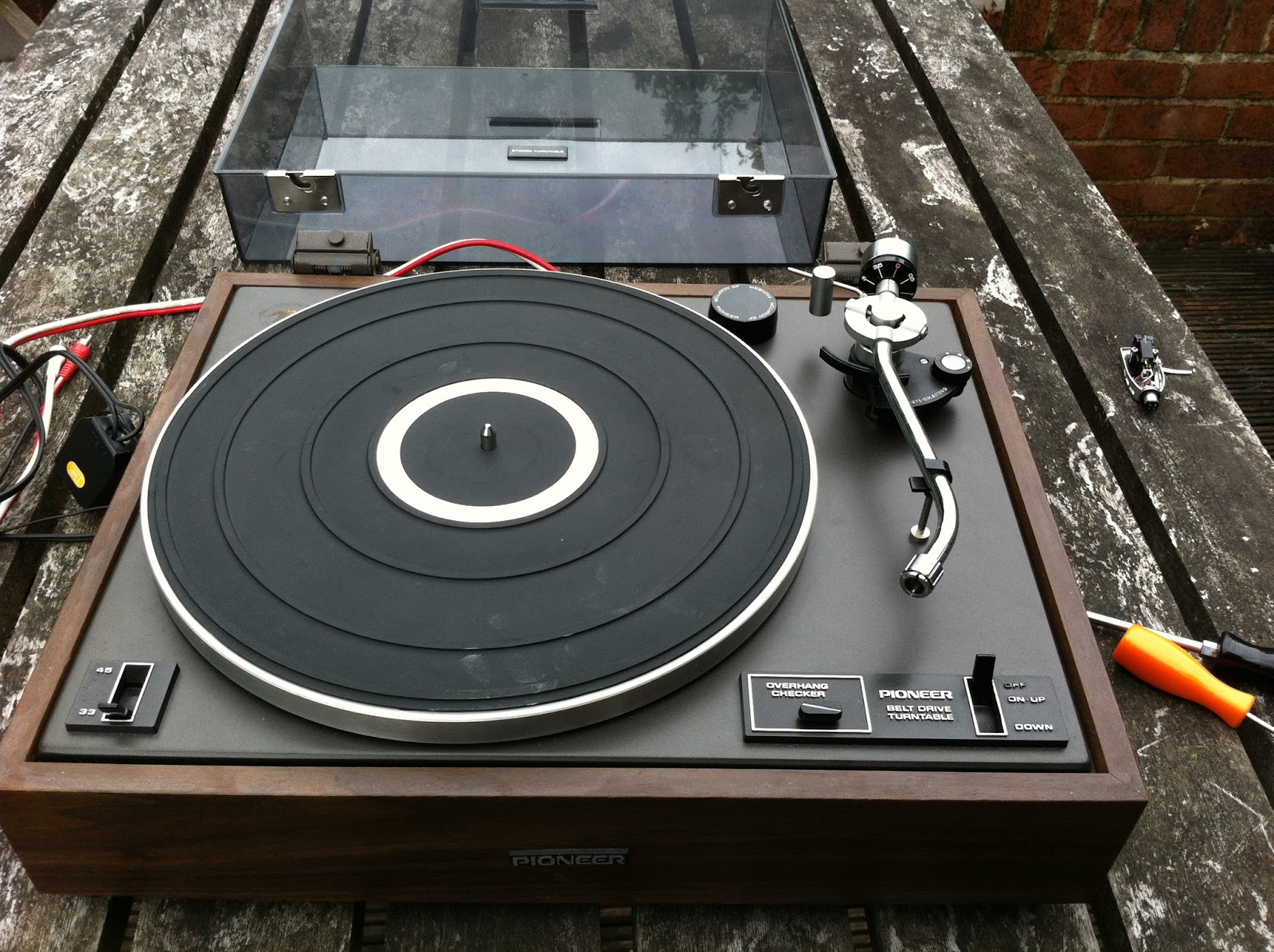 mending things: Restoring a Pioneer PL-12D Turntable
