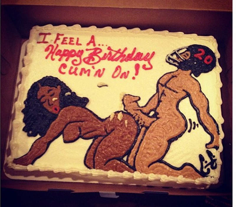 miko grimes birthday cake - Brent Grimes Got A Very NSFW Cake For His 30th Birthday Deadspin