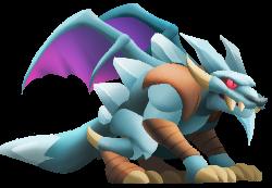 imagen del dragon lobo congelado