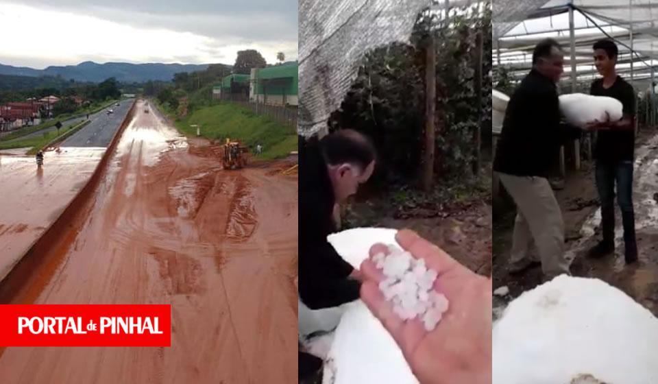 Chuva forte e granizo causam estragos em Andradas e Santo Antônio do Jardim