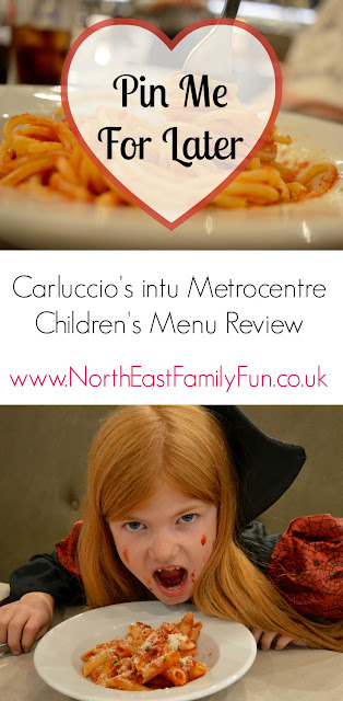 Carluccio's - intu Metrocentre | Children's Menu Review by North East Family Fun