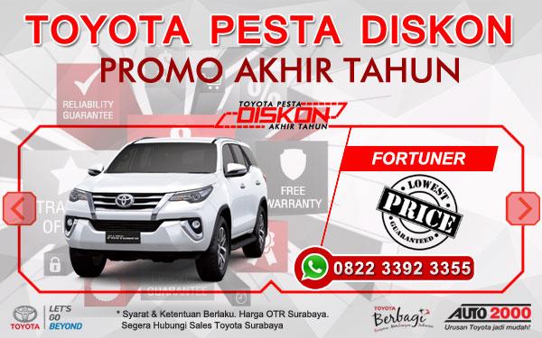 Promo Akhir Tahun Toyota Fortuner Surabaya