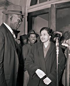 Photo: Rosa Parks & E.B. Nixon