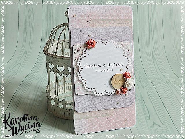 Odrobinę lekko, ciut mgliście, czyli delikatna kartka ślubna