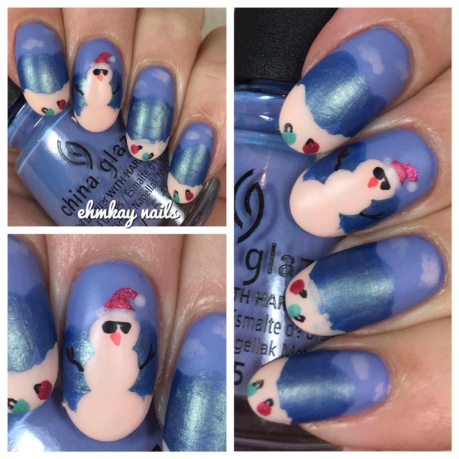 Ehmkay Nails: California Christmas Nail Art With China