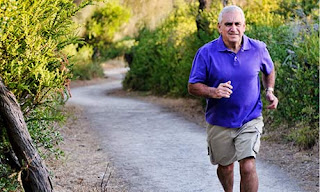 Old Man Running & getting Health benefits