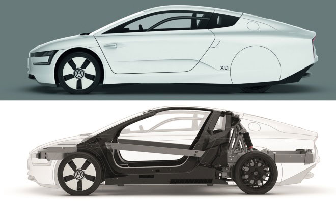 Volkswagen XL1 production car chassis