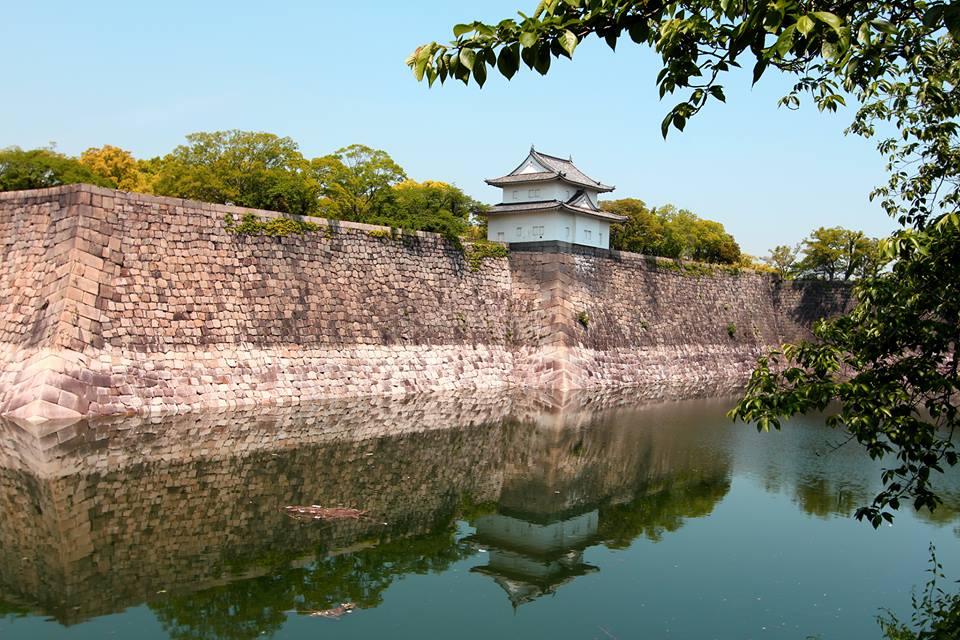 Tembok pertahanan Osaka Castle