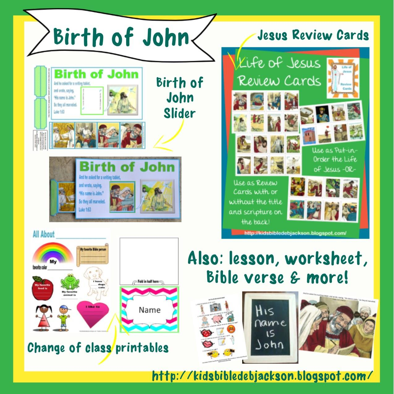 Bible Fun For Kids Birth Of John The Baptist