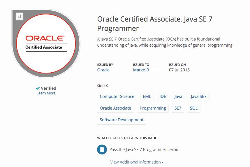 Oracle Certified Associate Java Se 7 Programmer That Java Guy